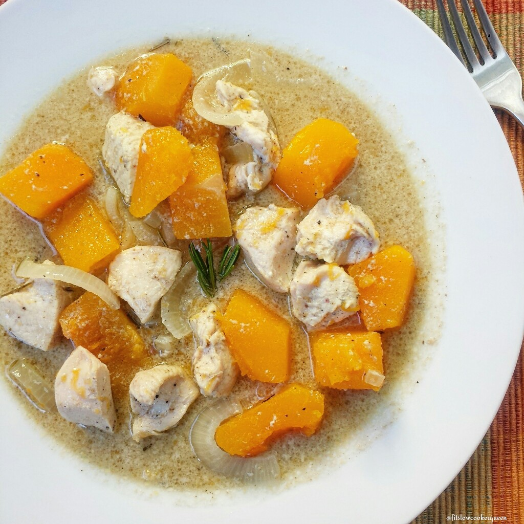 Slow Cooker Paleo Chicken & Butternut Squash Stew - Fit ...