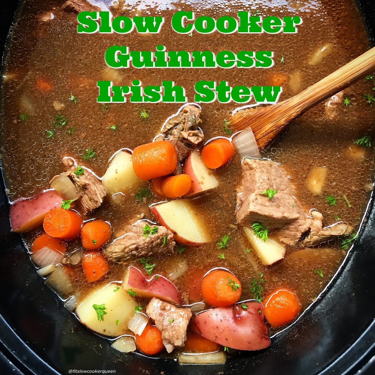 Slow Cooker Guinness Irish Stew Fit Slow Cooker Queen