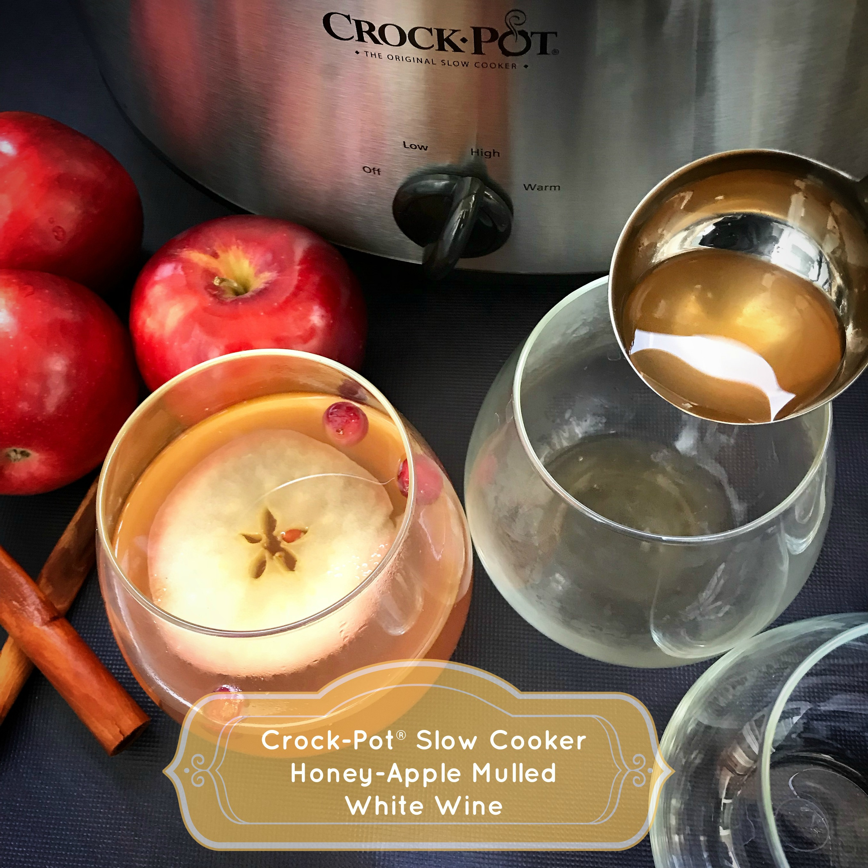 Crock-Pot® Slow Cooker Honey-Apple Mulled White Wine - Fit ...